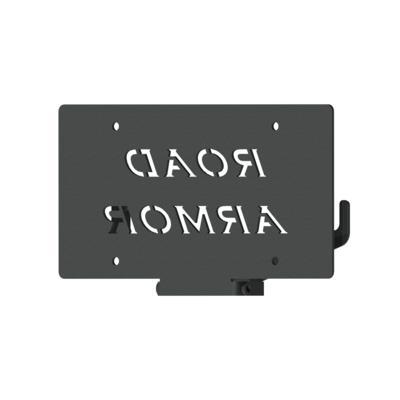 Road Armor Hawse Fairlead Otis License Plate Mount & Brackets (Black) - LPF150B