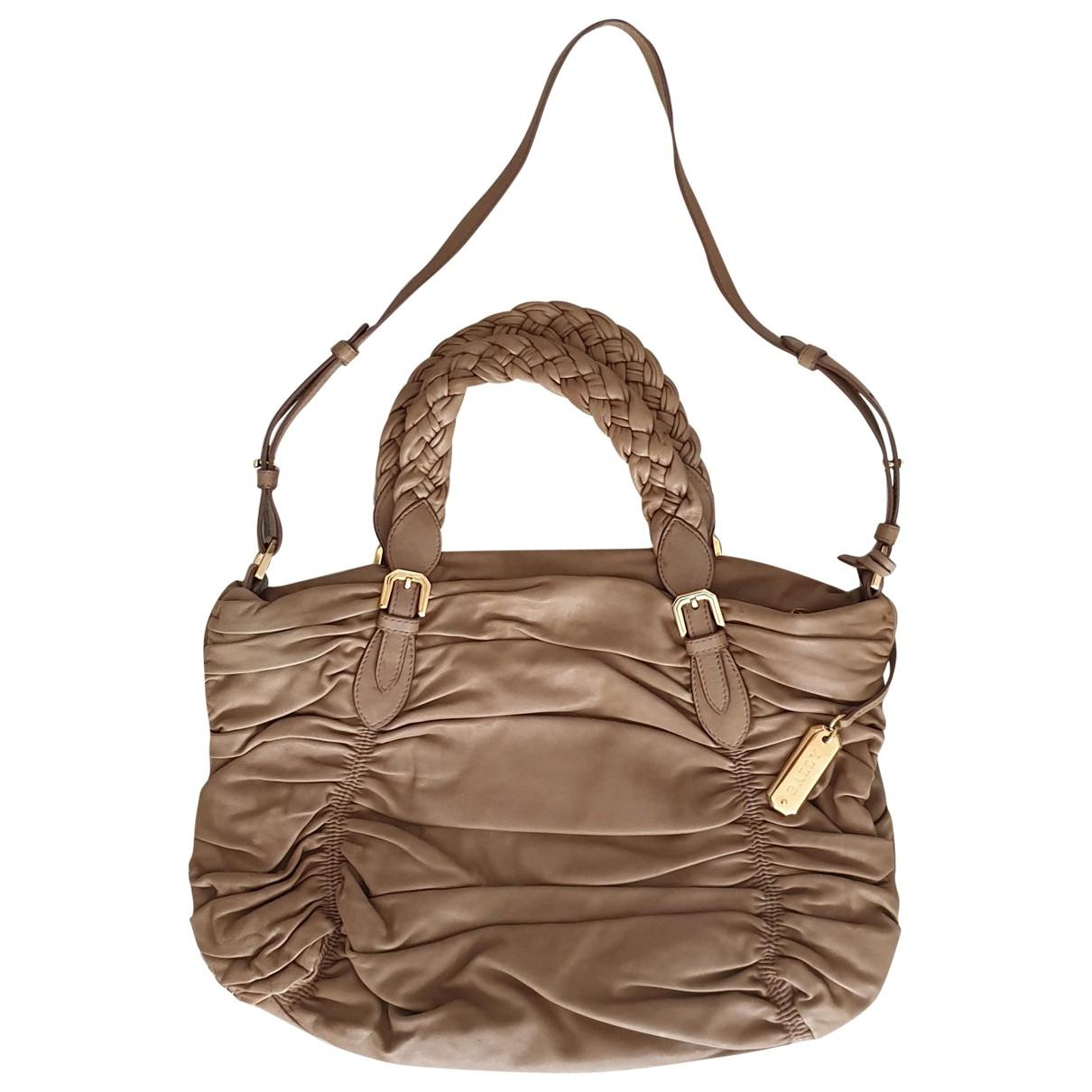 Bally \N Camel Leather handbag for Women \N