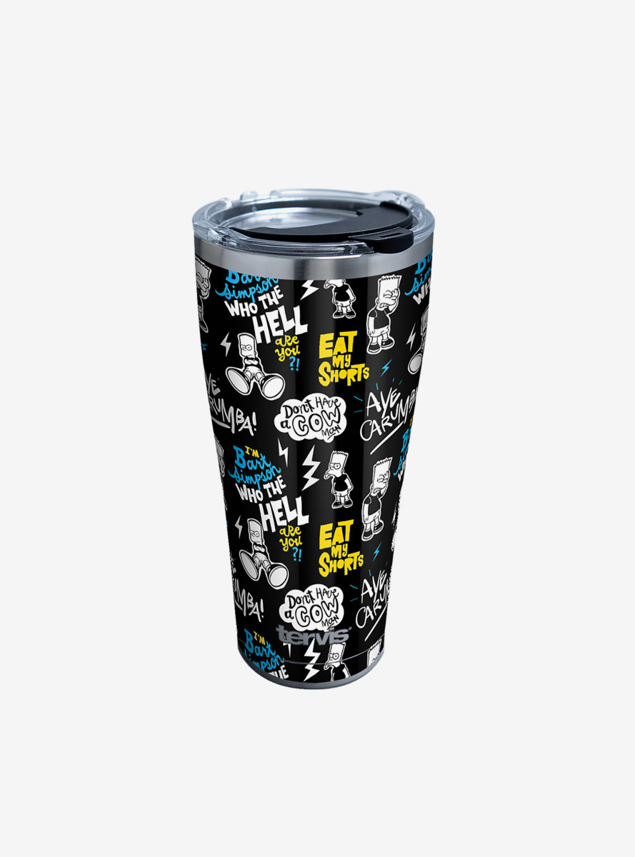 The Simpsons Bart Pattern 30oz Stainless Steel Tumbler With Lid