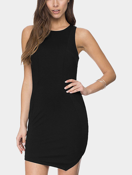 Yoins Asymmetrical Hem Sleevesless Dress