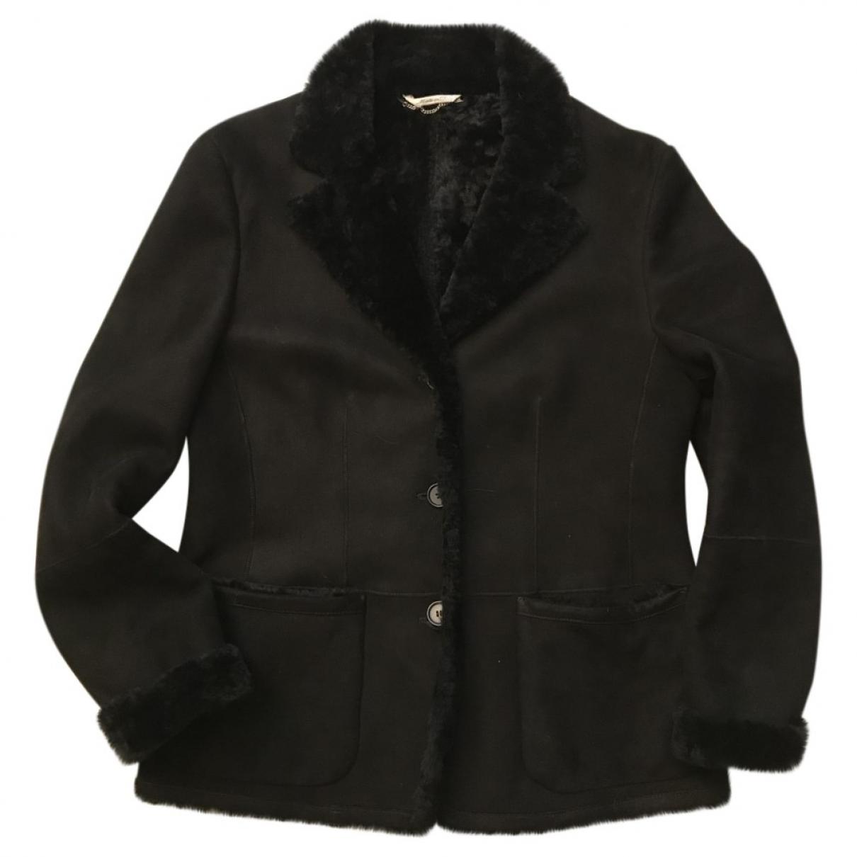 Max Mara - Veste   pour femme en mouton - noir