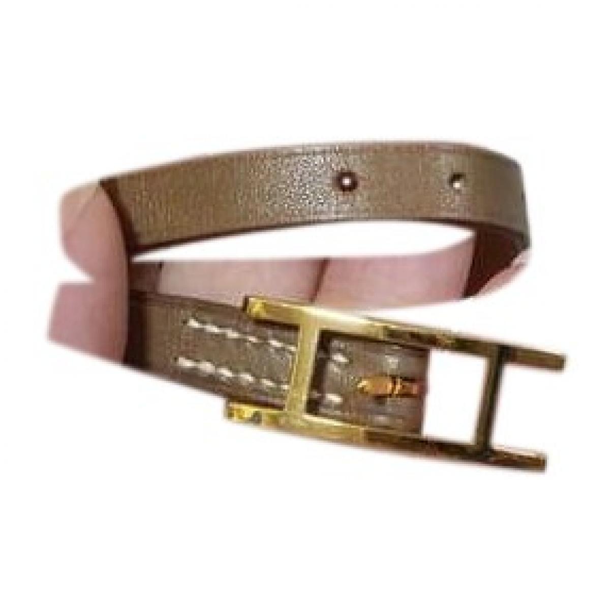 Hermes Behapi Armband in  Gold Leder