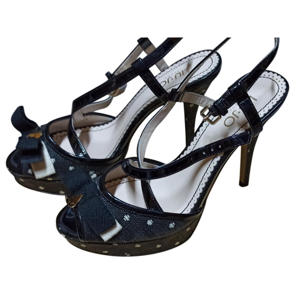 Liu.jo - Sandales   pour femme en cuir - marine