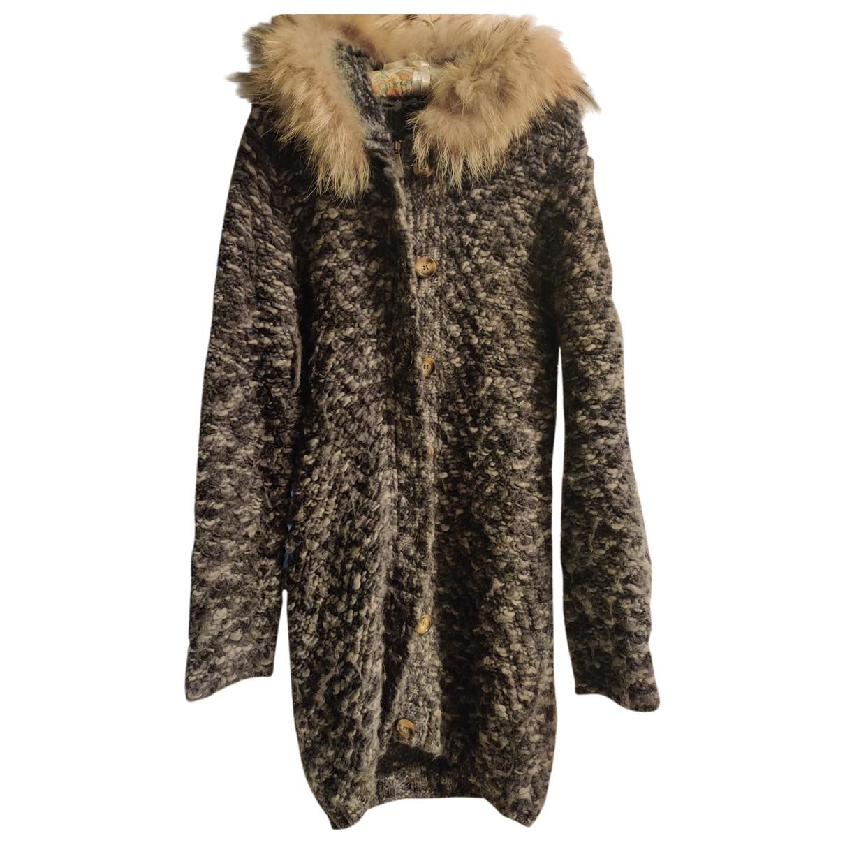 Peuterey - Manteau   pour femme en laine - bleu