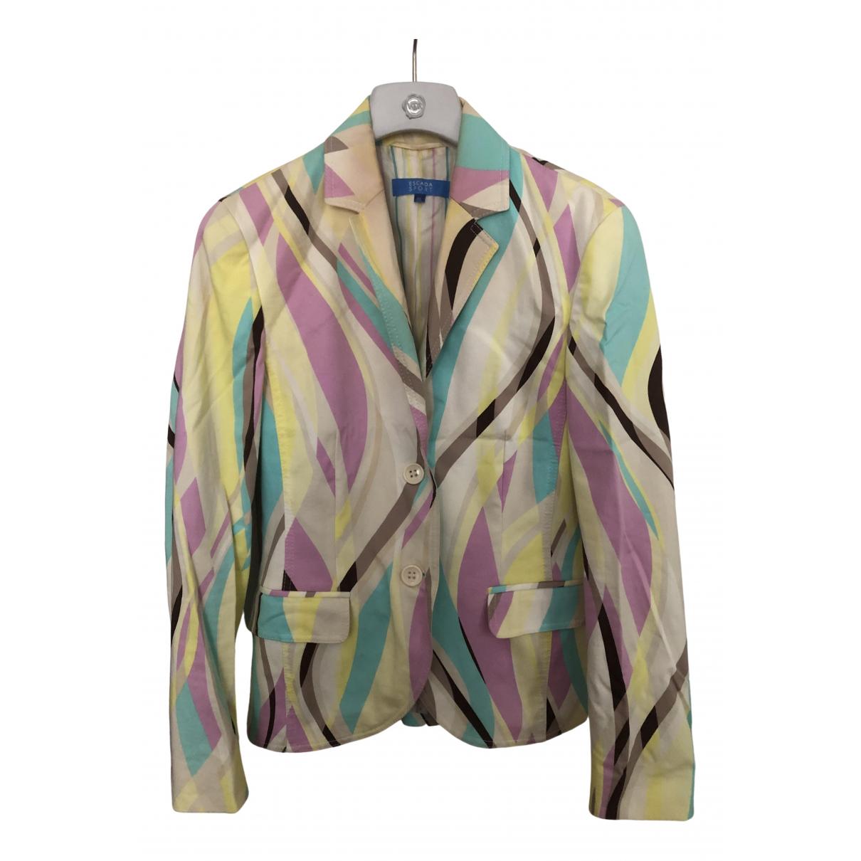Escada \N Multicolour Cotton jacket for Women 36 FR