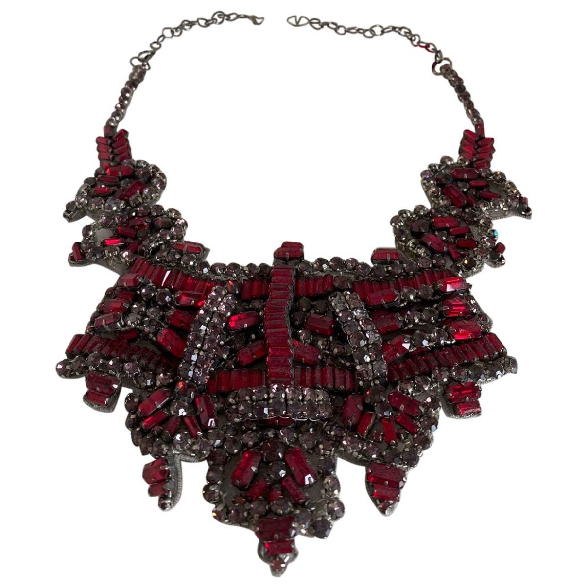 Valentino Garavani - Collier   pour femme en metal - rouge