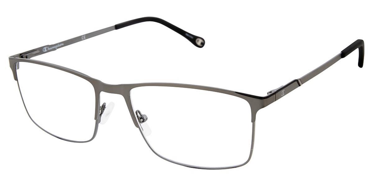 Champion 4015 C01 Men's Glasses Grey Size 58 - Free Lenses - HSA/FSA Insurance - Blue Light Block Available