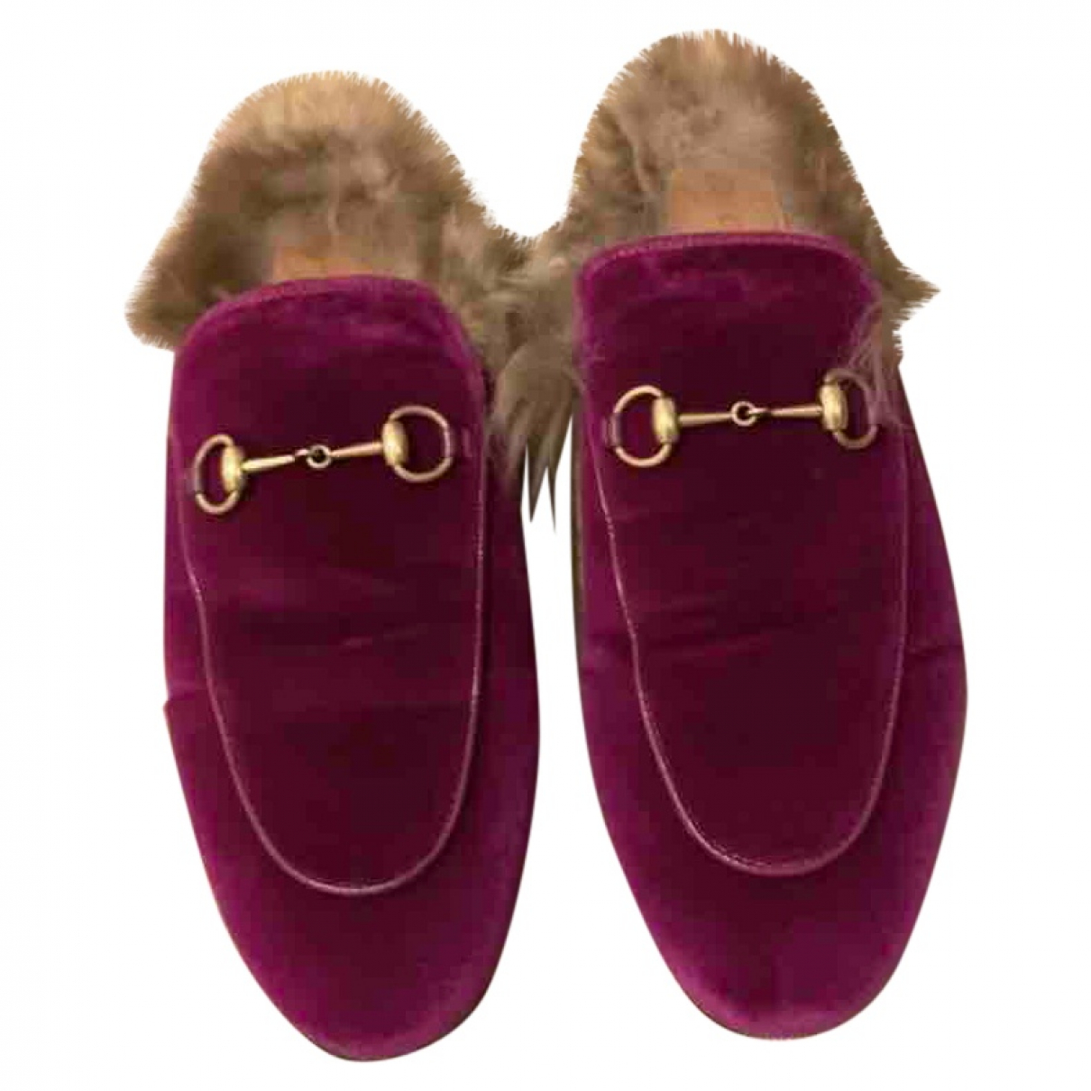 Gucci - Mocassins Princetown pour femme en velours - violet