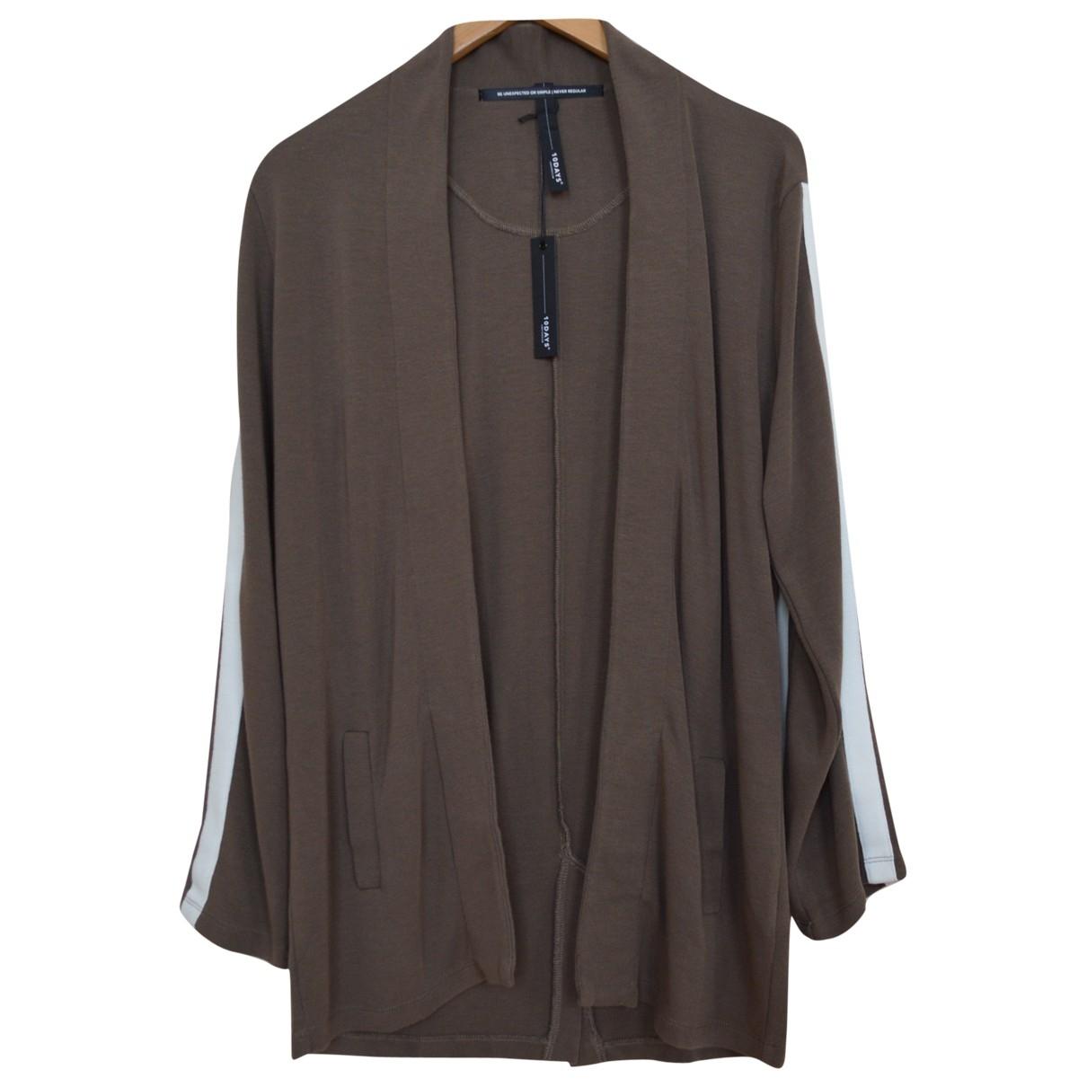 Non Signe / Unsigned \N Pullover in  Braun Viskose