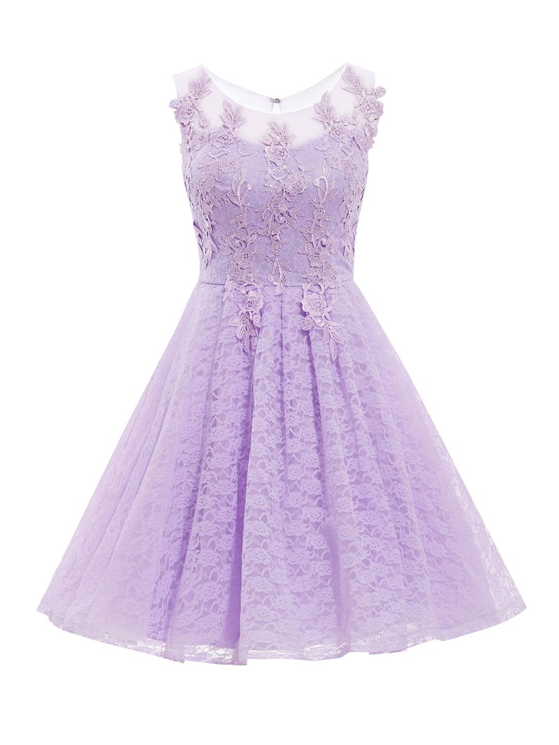 Ericdress Simple Short A Line Knee Length Lace Cocktail Dress