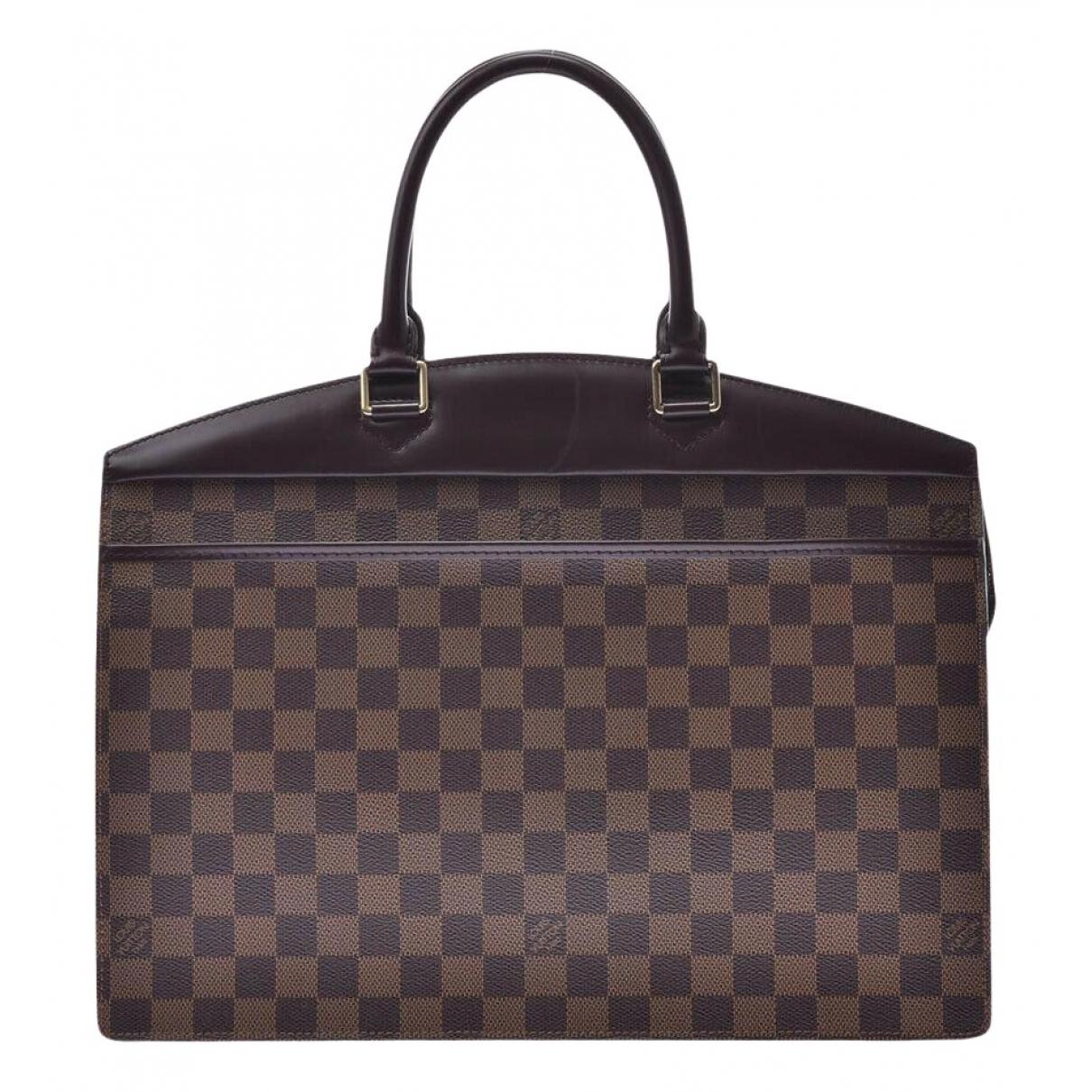 Louis Vuitton - Sac a main Riviera  pour femme en toile - marron