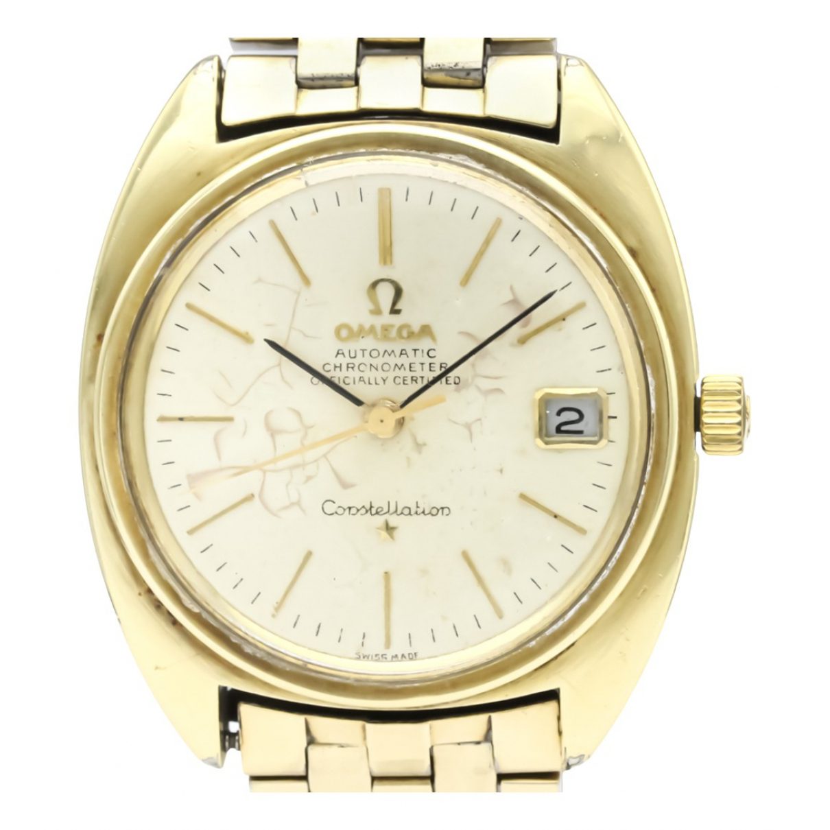 Omega Constellation Silver Gold plated watch for Men N