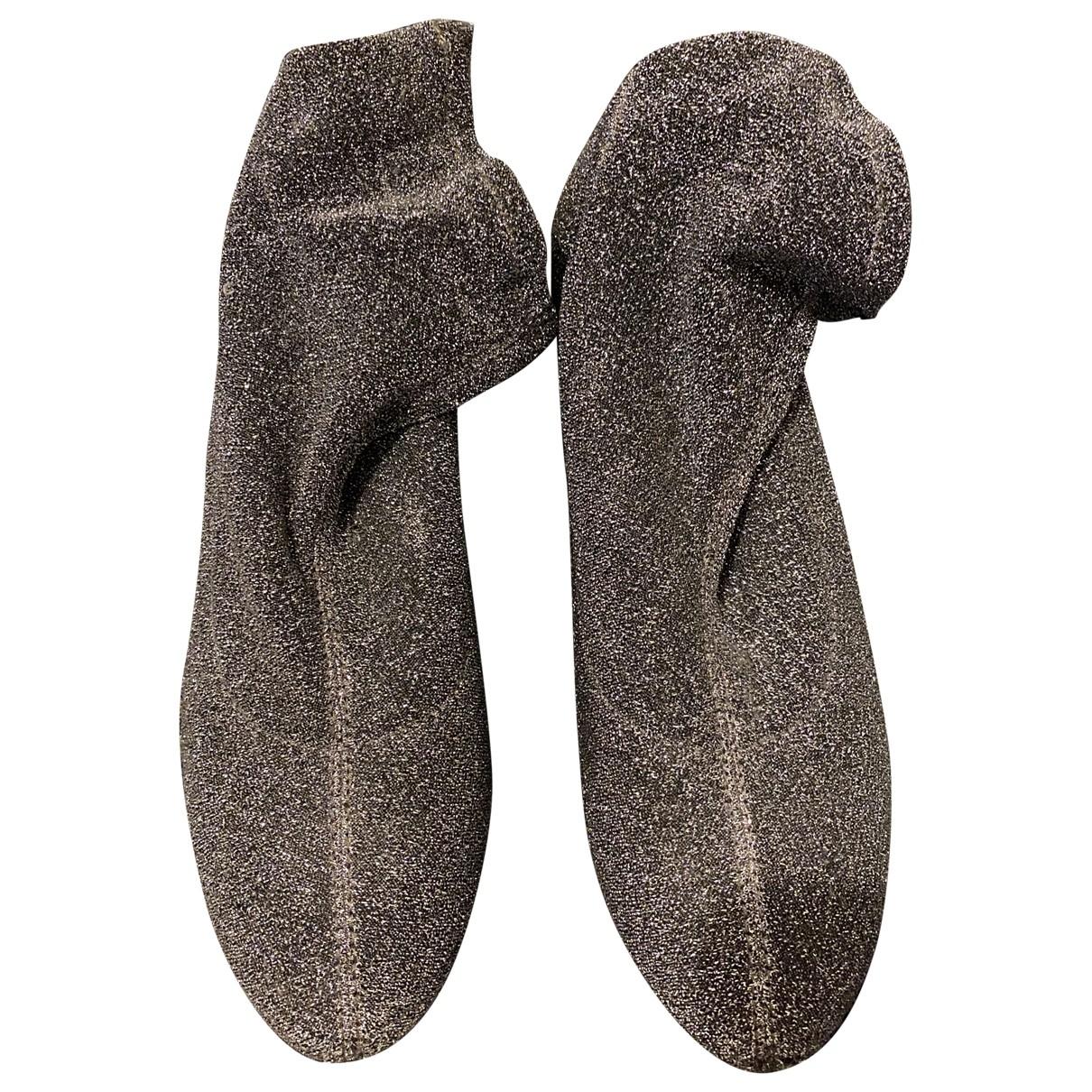 Zara \N Stiefel in  Silber Leinen