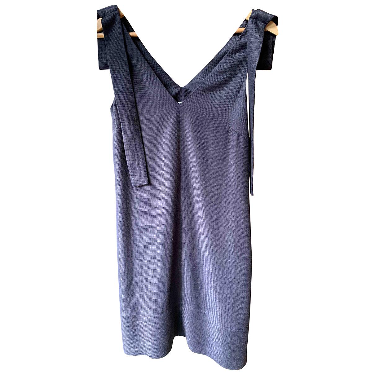 Victoria, Victoria Beckham \N Kleid in  Blau Viskose
