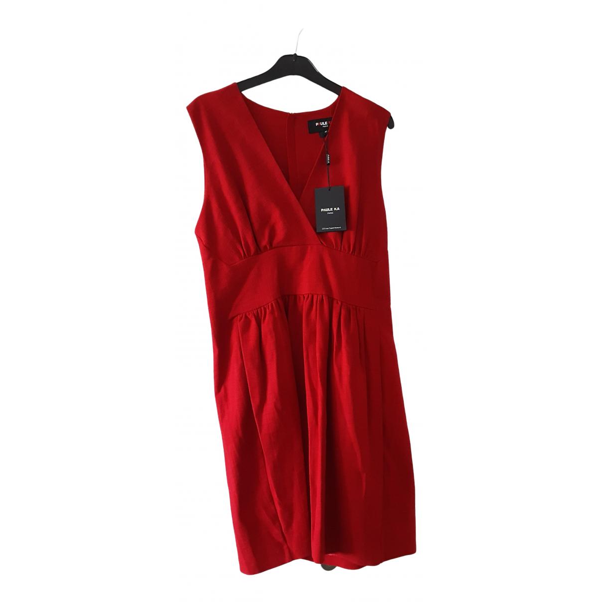 Paule Ka \N Kleid in  Rot Baumwolle