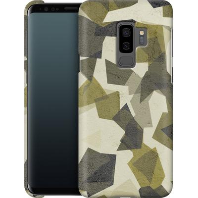 Samsung Galaxy S9 Plus Smartphone Huelle - Geometric Camo Green von caseable Designs