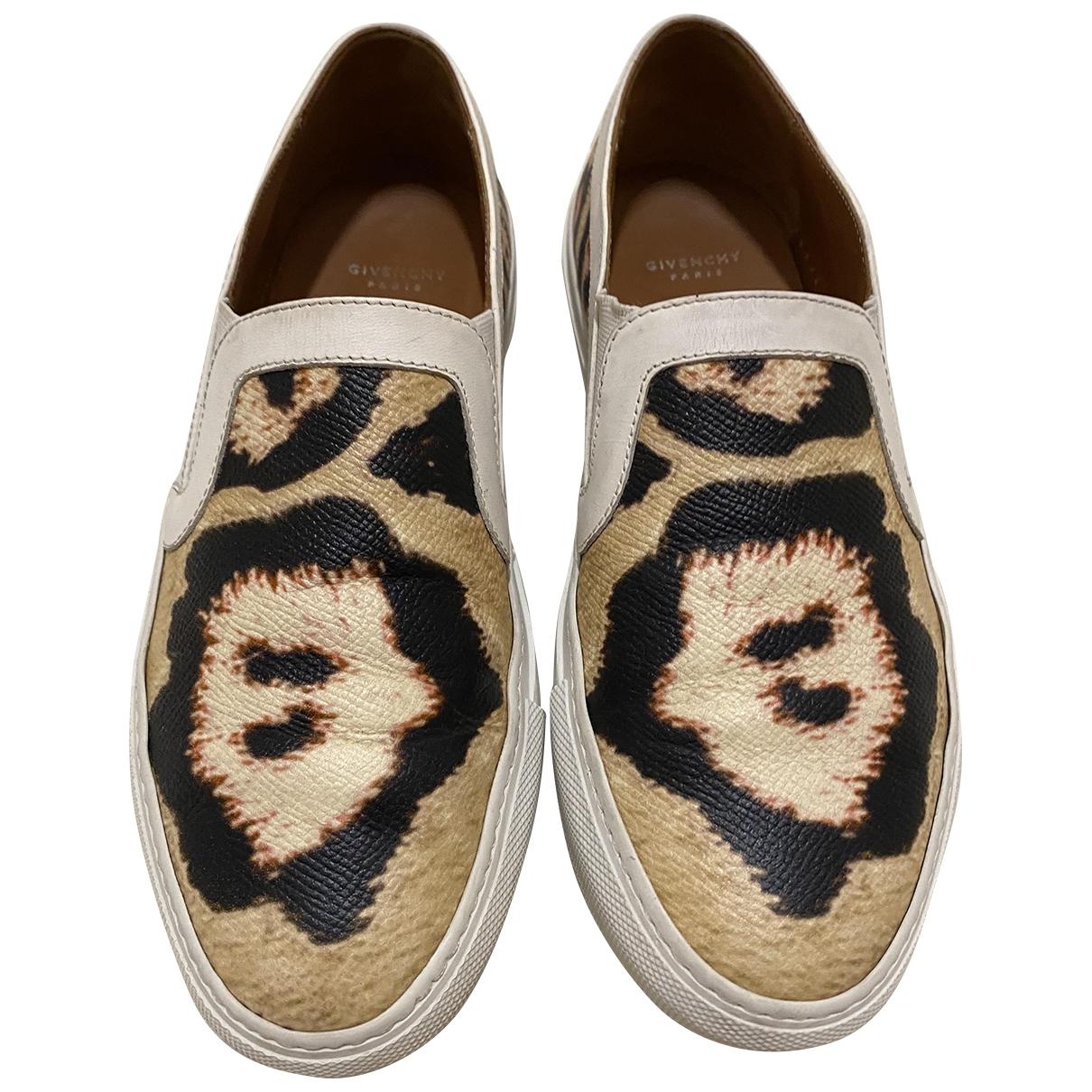 Givenchy - Baskets   pour femme en cuir - beige