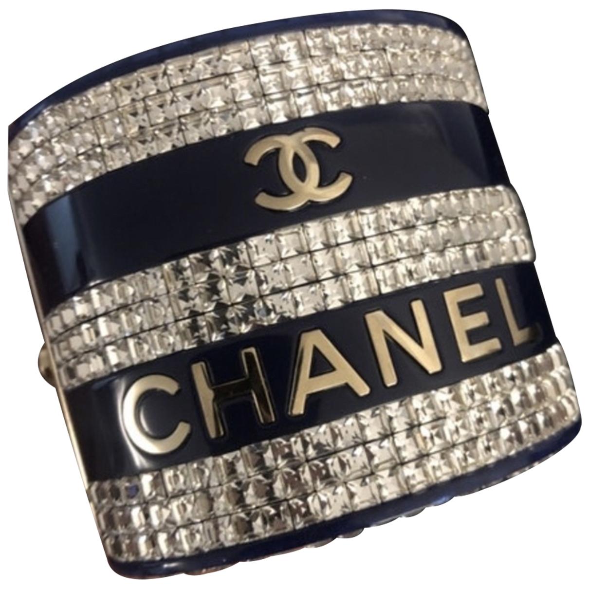 Chanel - Bracelet   pour femme en metal - bleu