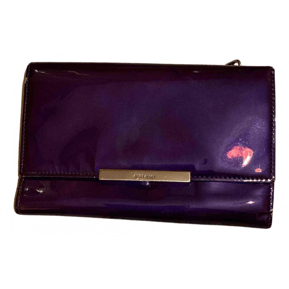 Miu Miu - Portefeuille   pour femme en cuir - violet