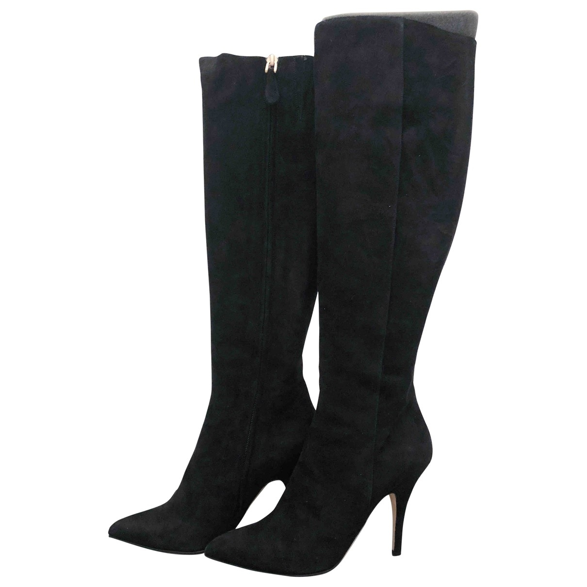 Bally \N Black Suede Boots for Women 38.5 EU