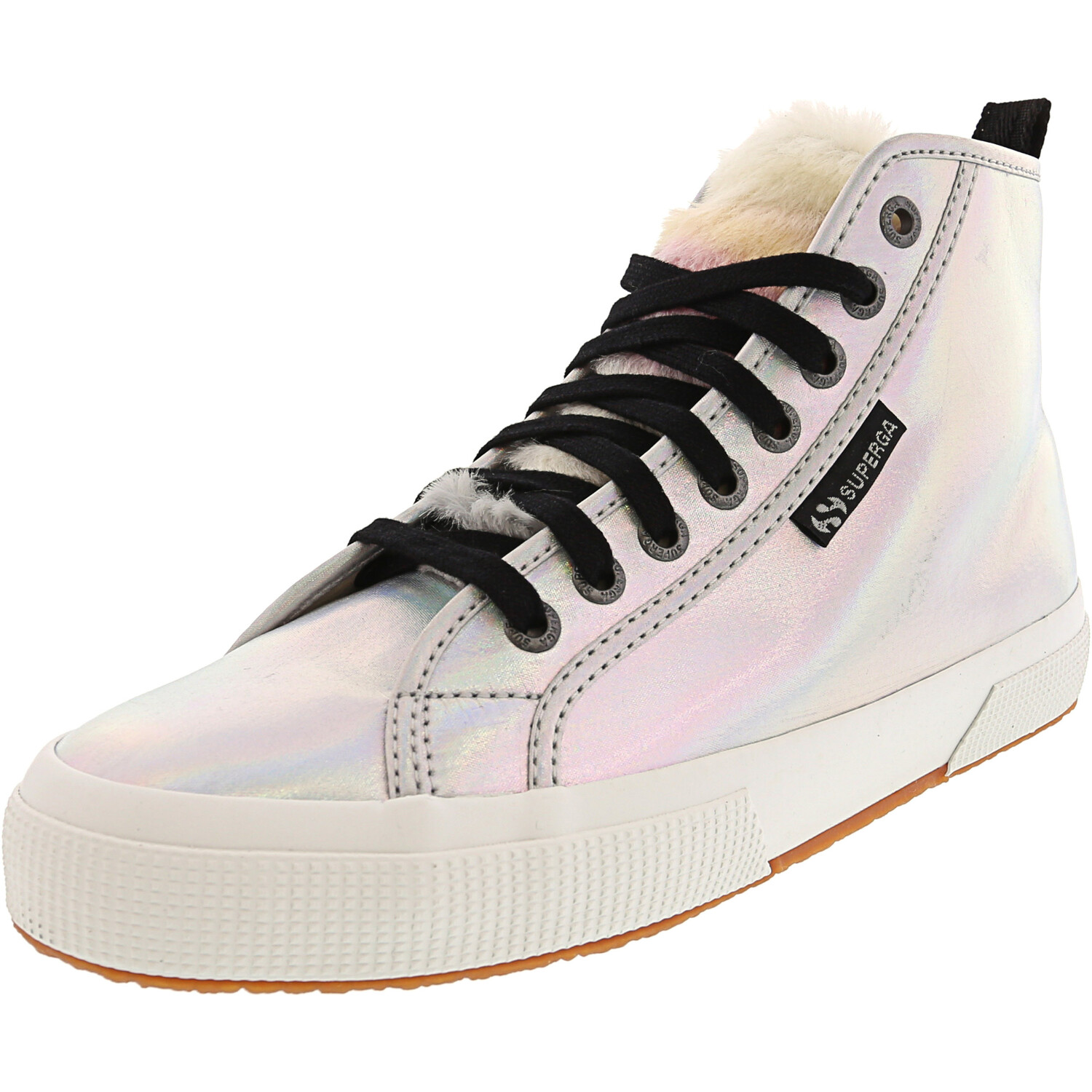 Superga 2795-Iridescentnylonfurw Iridescent High-Top Nylon Sneaker - 6M / 4.5M