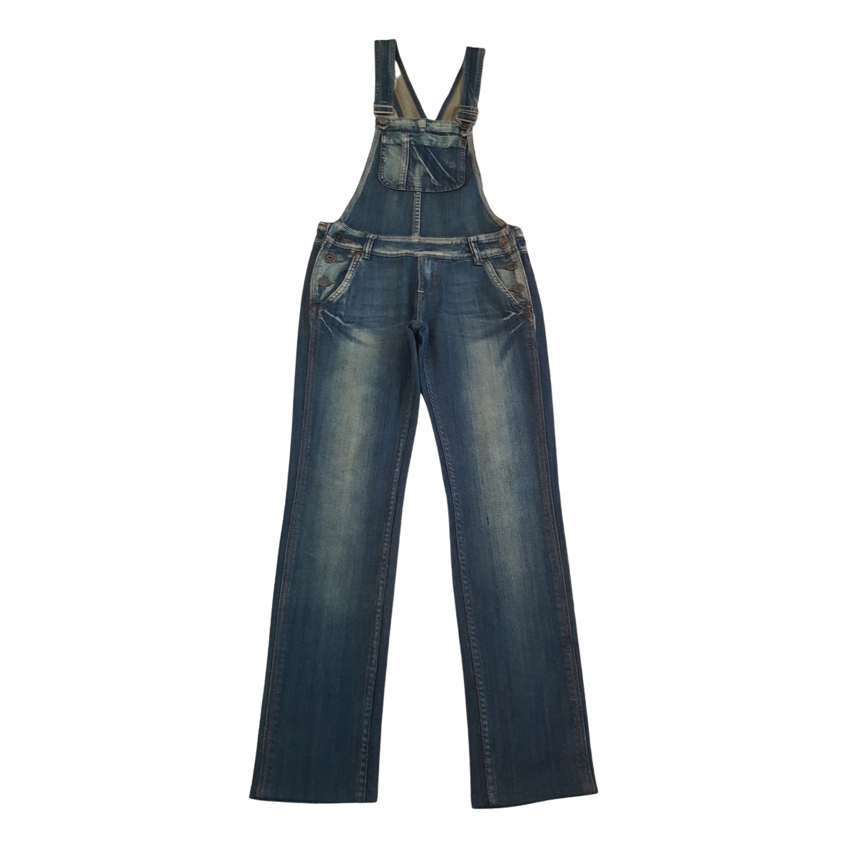 Non Signé / Unsigned \N Blue Cotton Trousers for Women XS International