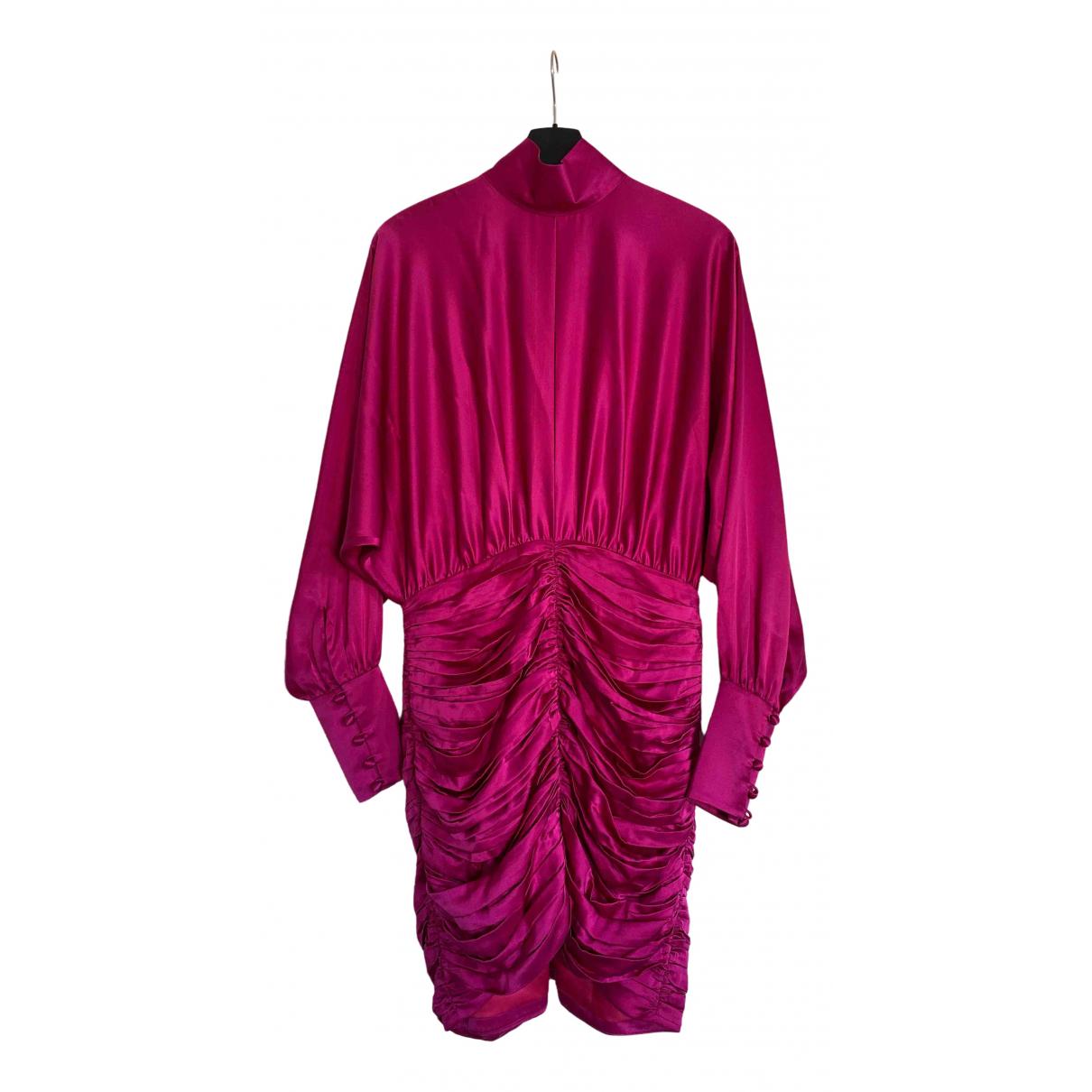 Retrofete - Robe   pour femme en soie - rose