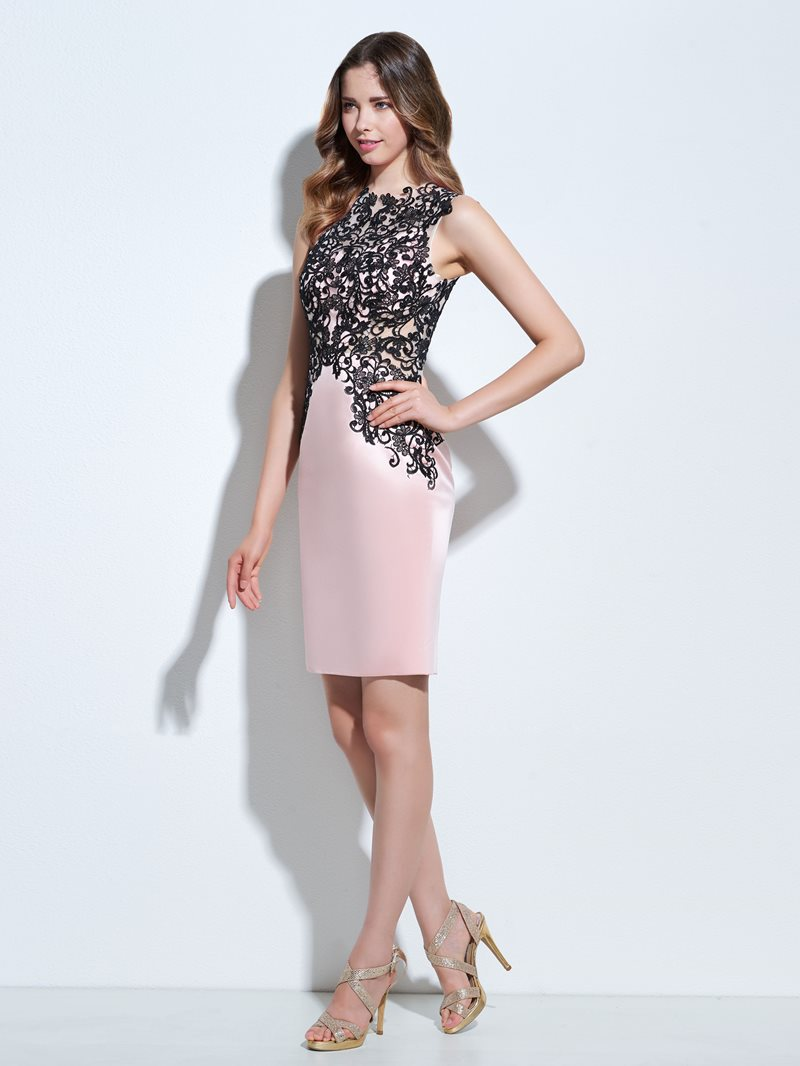 Ericdress Sheath Appliques Knee-Length Cocktail Dress