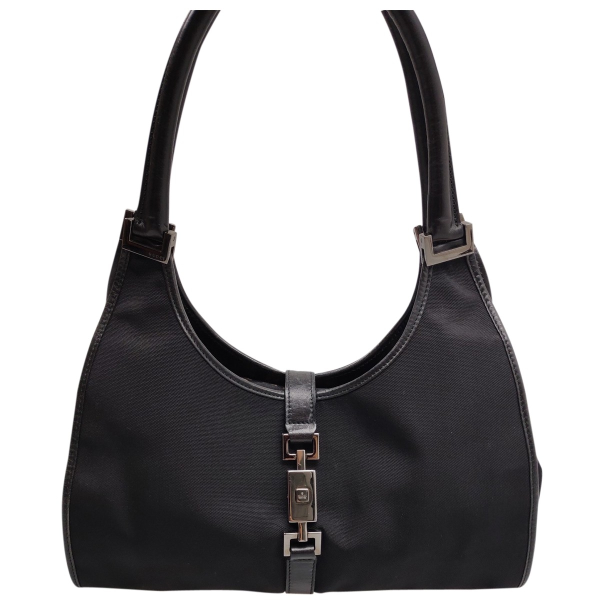 Gucci \N Handtasche in  Schwarz Leinen