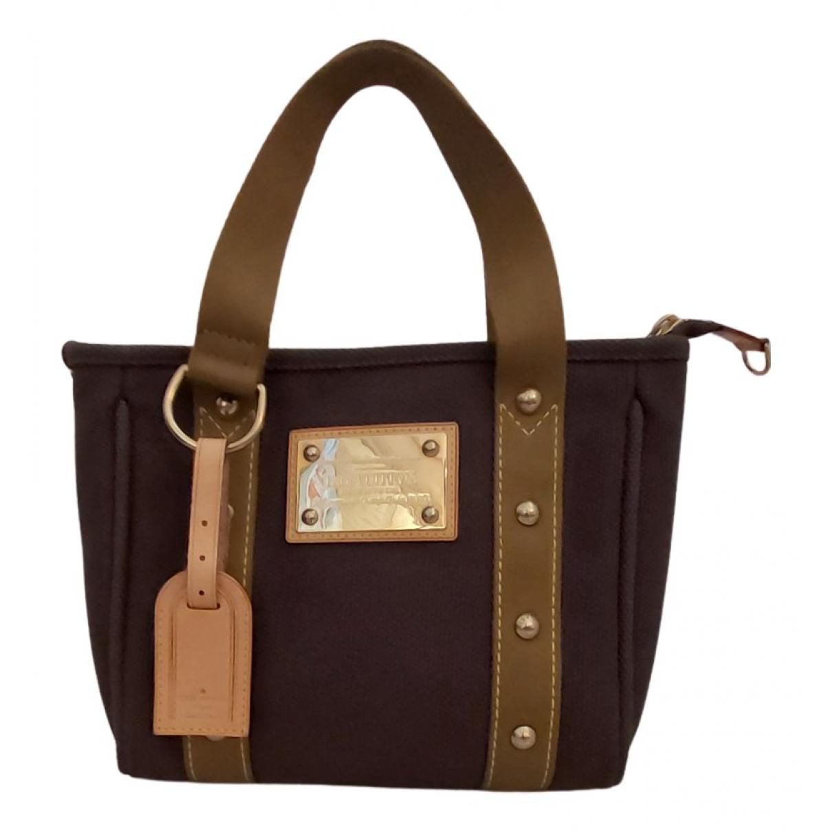 Louis Vuitton Antigua Khaki Cloth handbag for Women N
