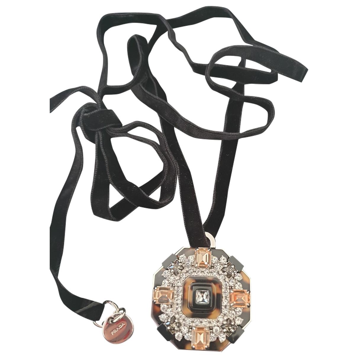 Prada \N Halskette in  Braun Kristall