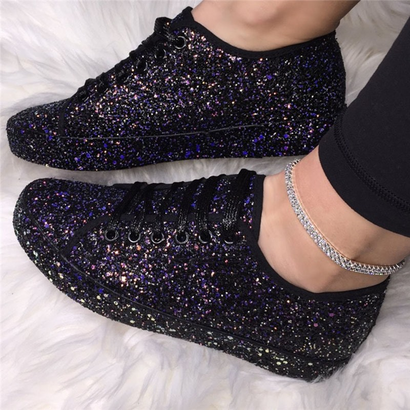 Ericdress Round Toe Lace-Up Cross Strap Plain Sneakers