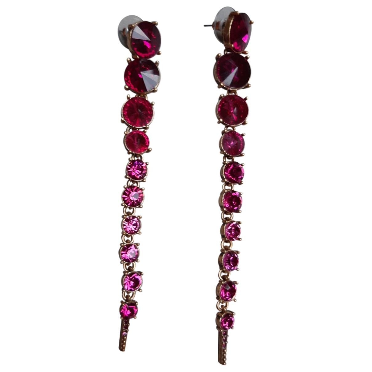 Oscar De La Renta - Boucles doreilles   pour femme en metal - rose