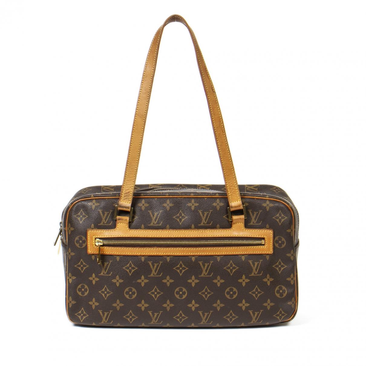 Louis Vuitton Cite  Handtasche in  Braun Leder