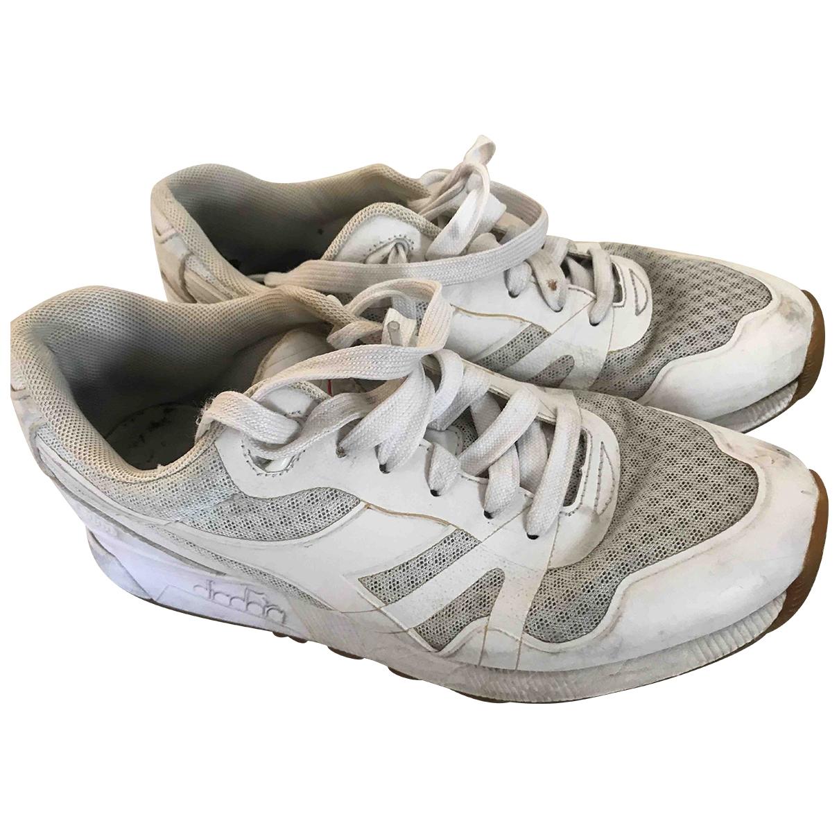 Diadora \N Sneakers in  Weiss Kautschuk