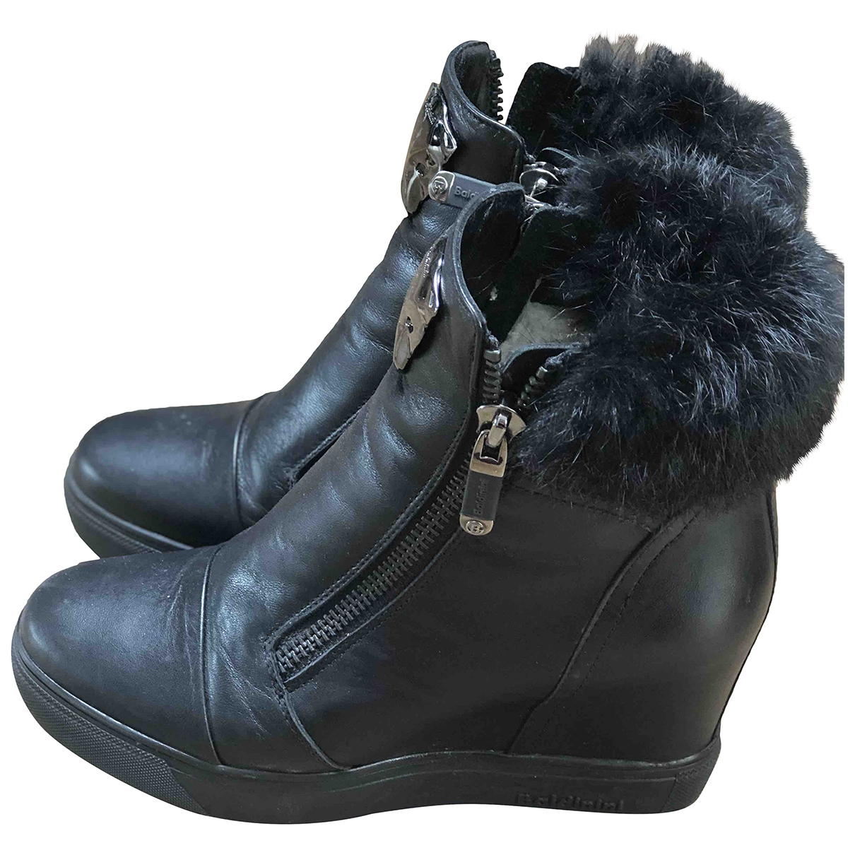 Baldinini \N Black Leather Ankle boots for Women 39 EU