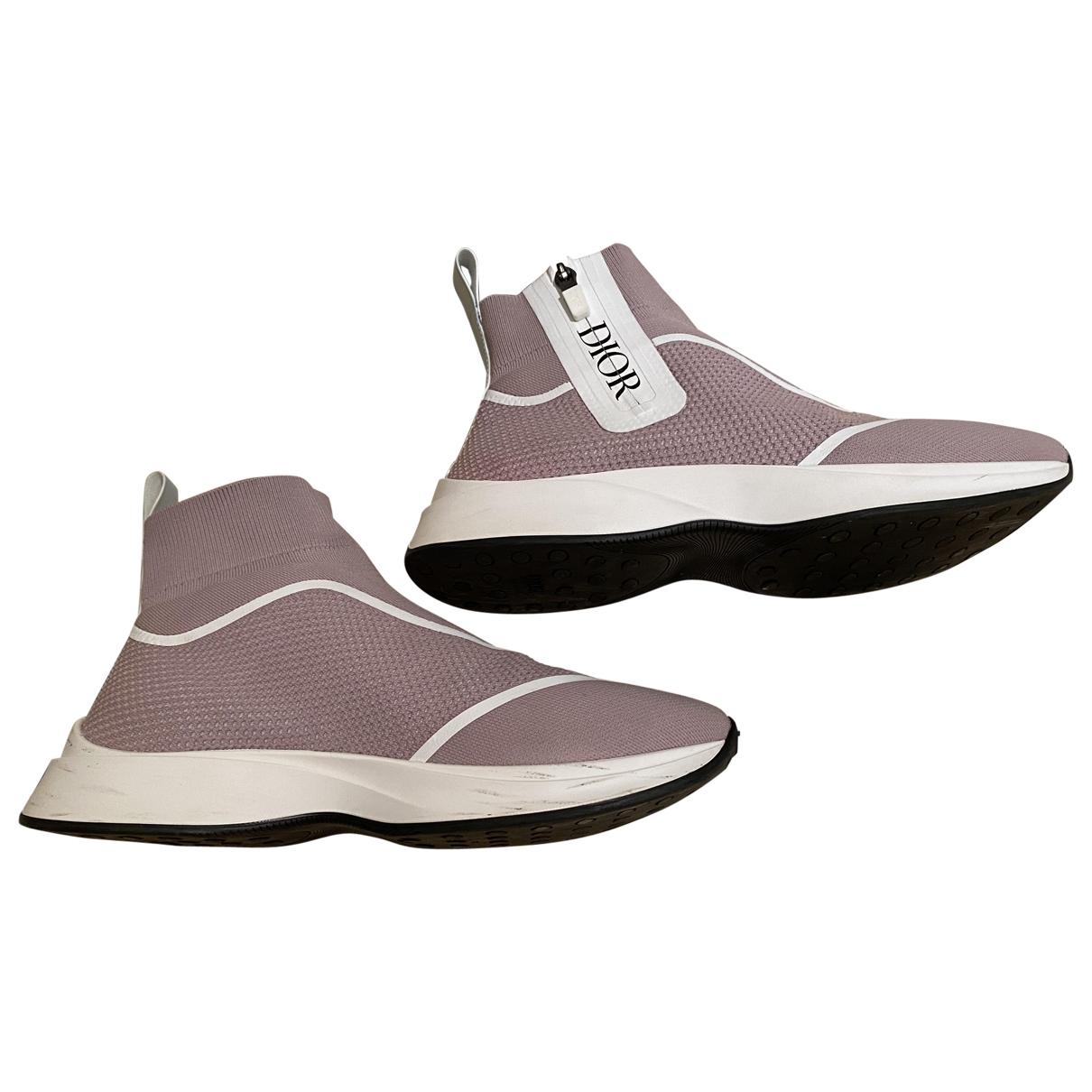 Dior \N Sneakers in  Rosa Leinen