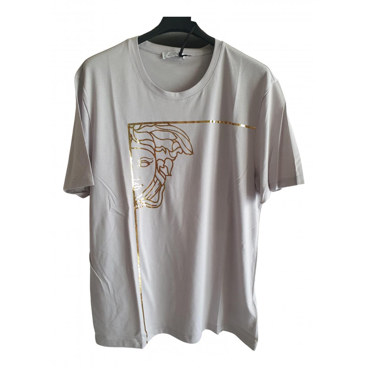 Versace \N T-Shirts in  Grau Baumwolle