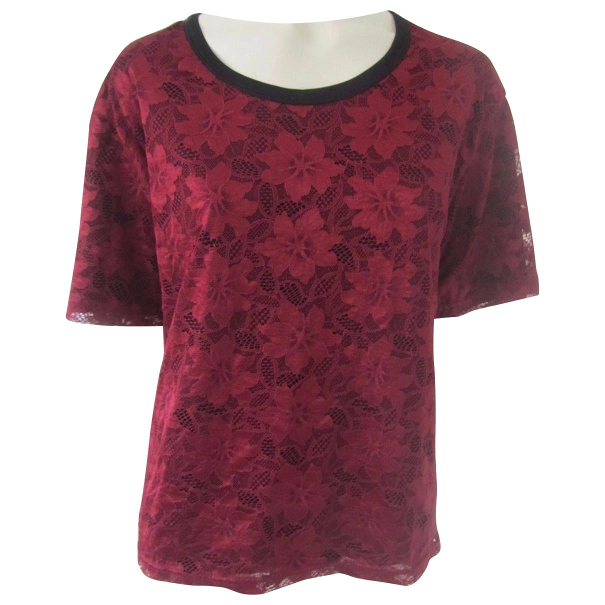 Dolce & Gabbana - Top   pour femme en dentelle - rouge