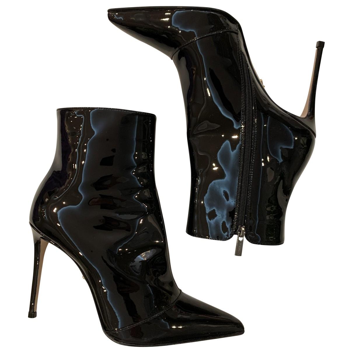Le Silla - Boots   pour femme en cuir verni - noir