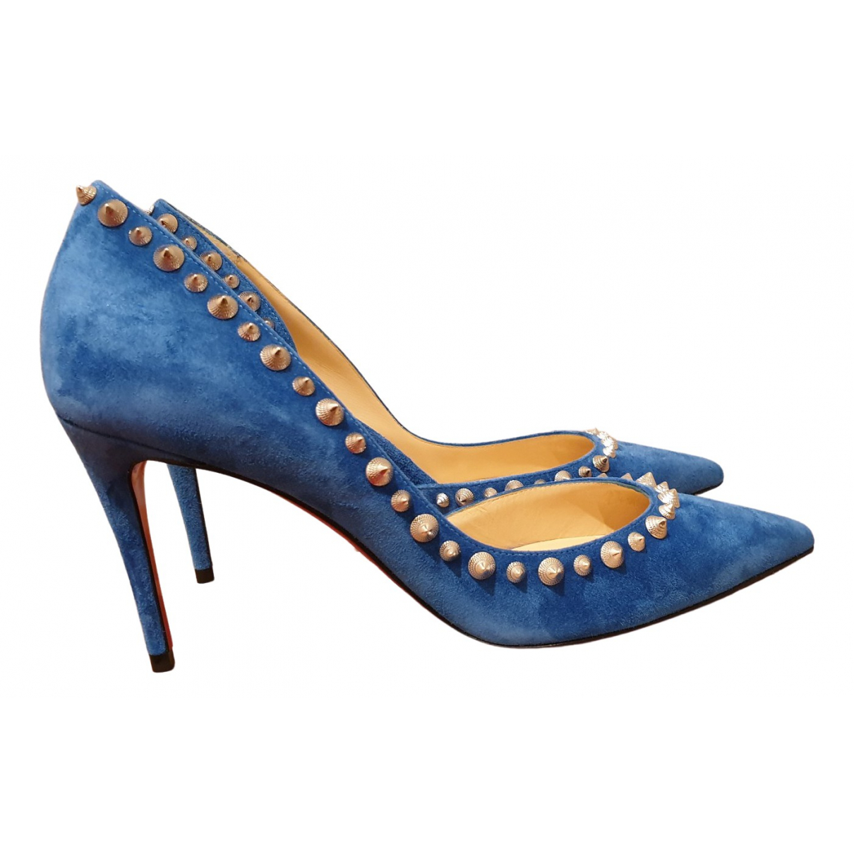 Christian Louboutin - Escarpins Iriza pour femme en suede - bleu