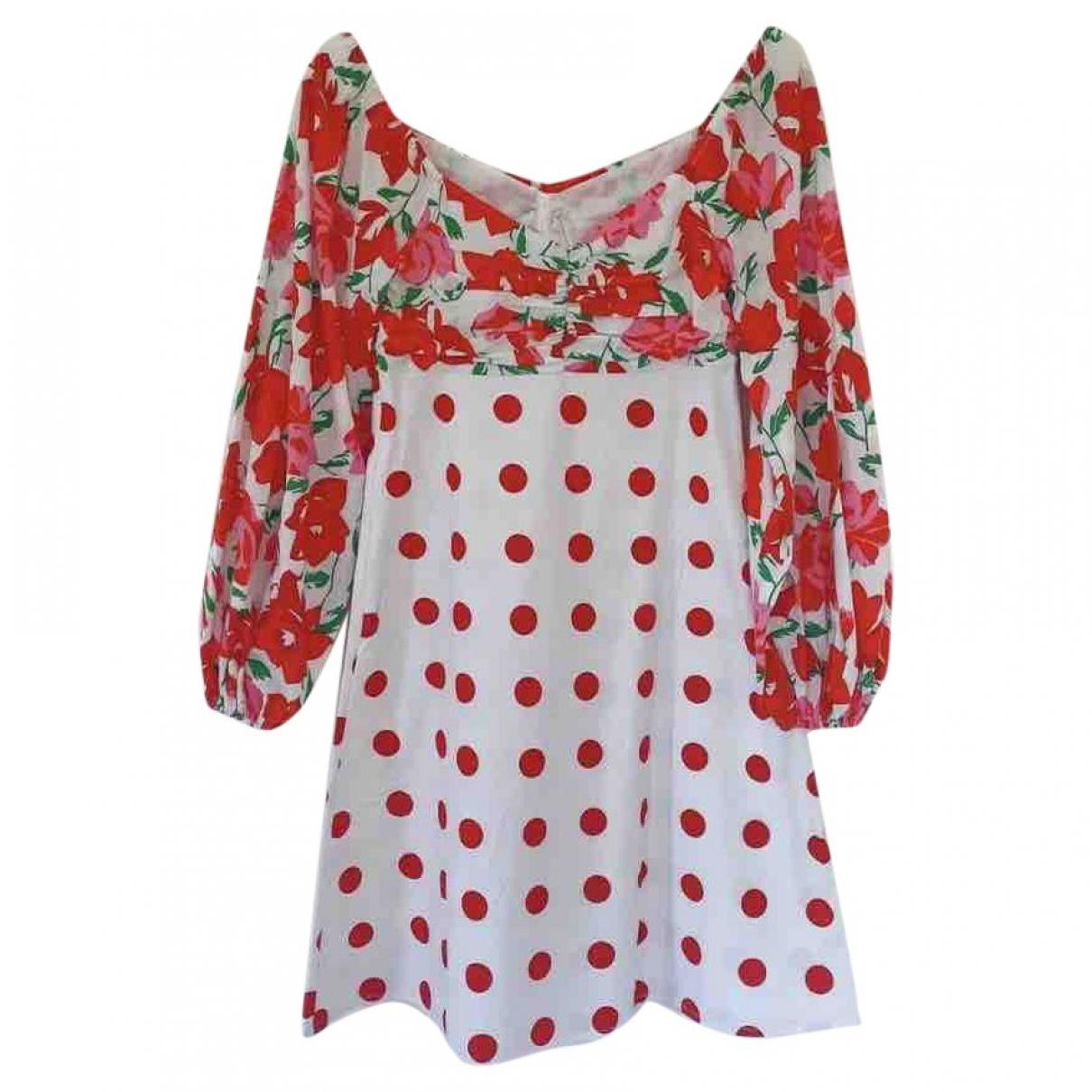 Rixo - Robe   pour femme en coton - rouge