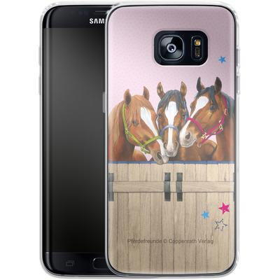 Samsung Galaxy S7 Edge Silikon Handyhuelle - Pferdefreunde 3 von Pferdefreunde