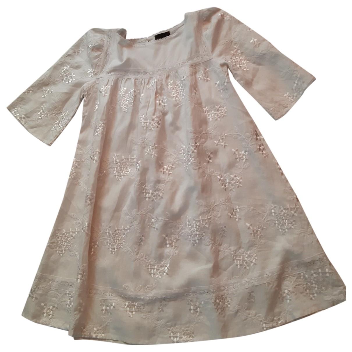 Ermanno Scervino \N Kleid in  Weiss Leinen