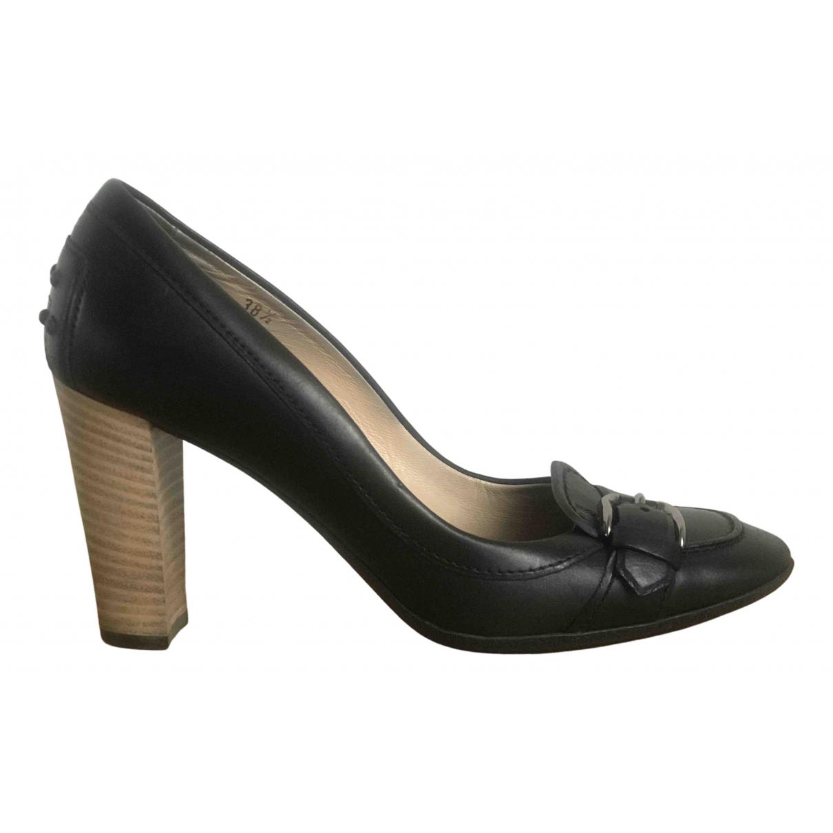 Tods - Escarpins   pour femme en cuir - noir