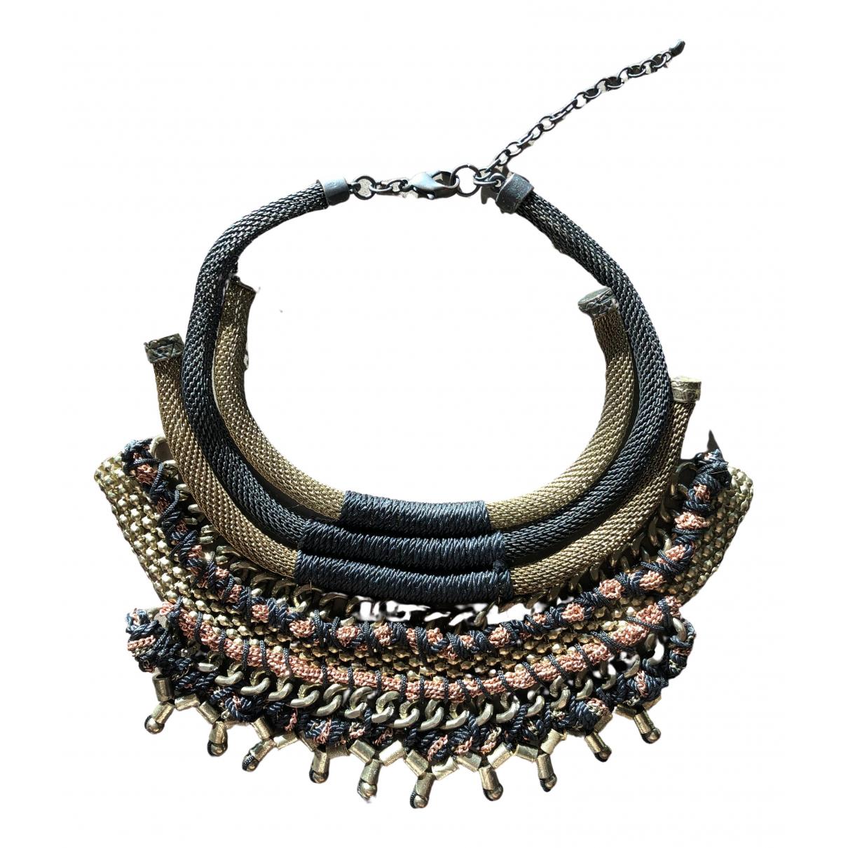 - Collier Motifs Ethniques pour femme en metal - metallise