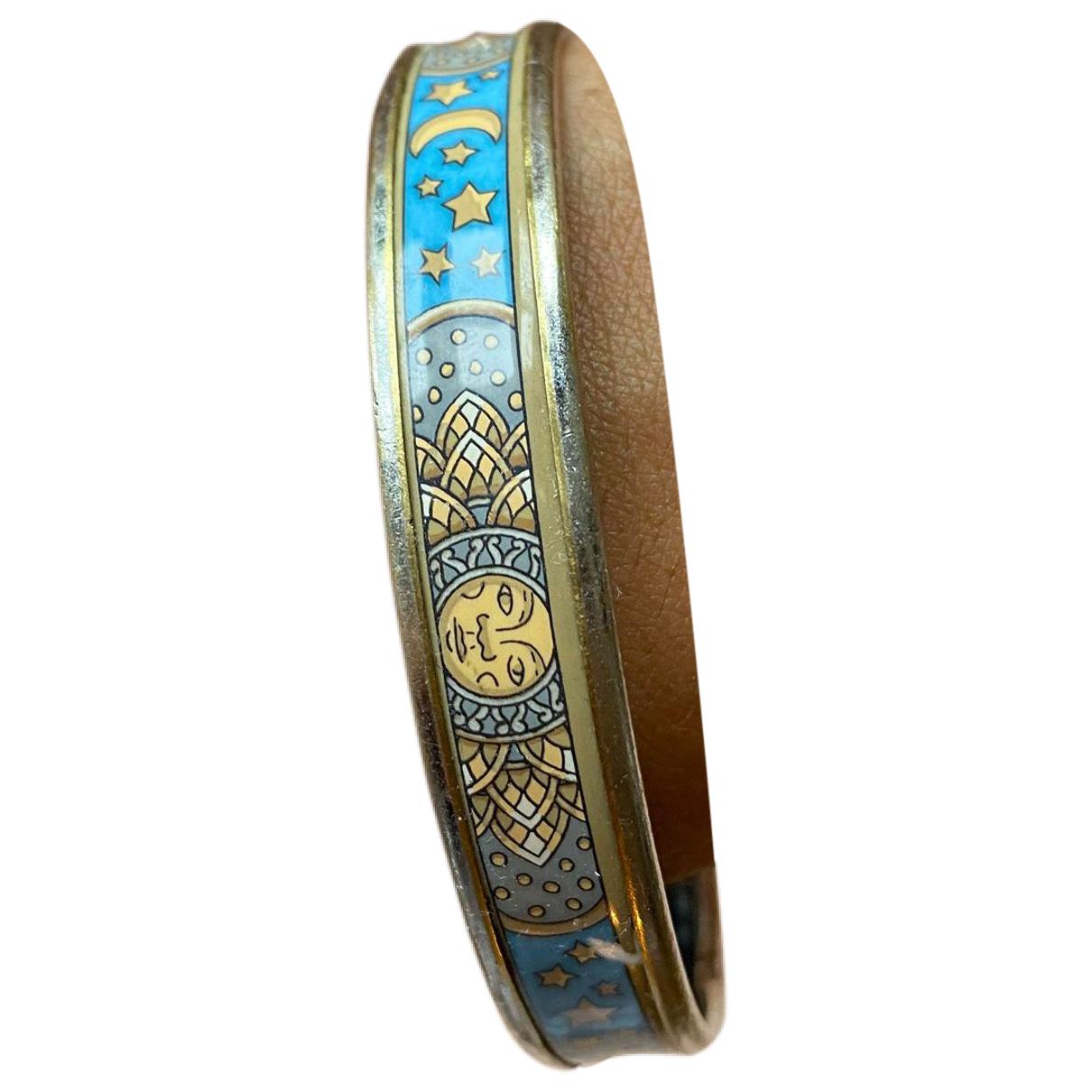 Hermes - Bracelet Bracelet Email pour femme en metal - bleu