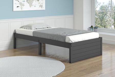 400-TDG Twin Bed in Dark