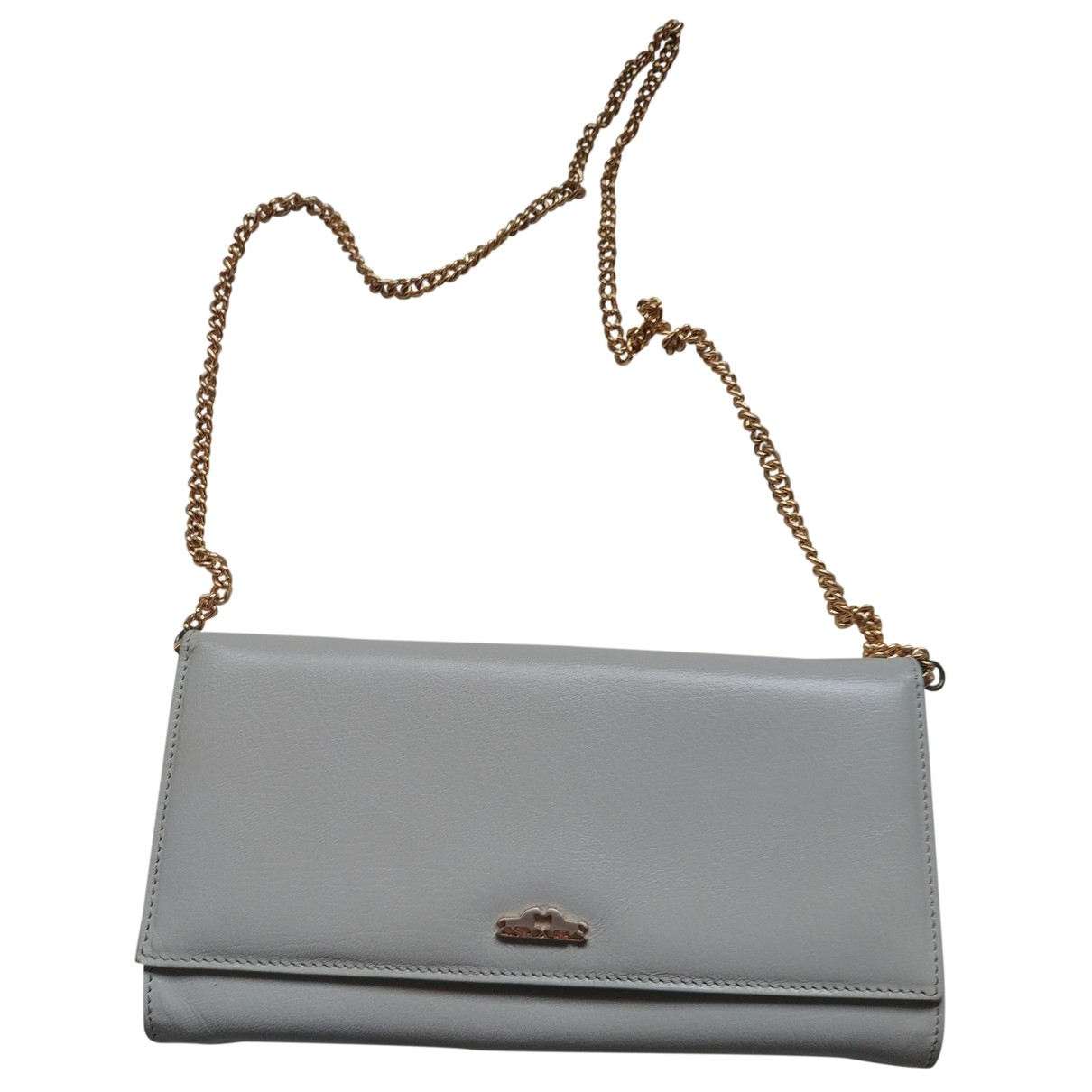 Non Signe / Unsigned \N Clutch in  Beige Leder