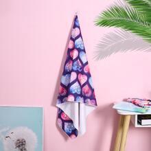 Mandala Print Bath Towel
